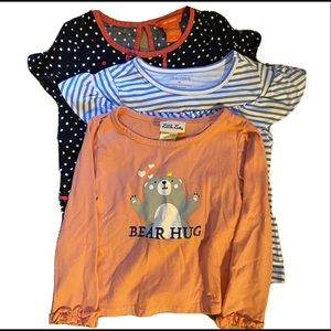 Bundle of three summery tops girls size 4T